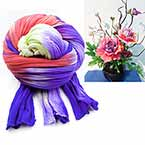 Rainbow Colour Specially dyed nylon, Dark purple, Pinkish red, Stretched Size 2.5m x 25cm, 1 piece