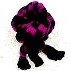 Two colours Specially dyed nylon, Nylon, black, purple, Stretched Size per piece 1.5m x 15cm, 4 pieces