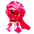 Two colours Specially dyed nylon, Nylon, Dark red, Magenta, Stretched Size 1.5m x 15cm, 1 piece