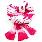 Two colours Specially dyed nylon, Nylon, Magenta, white, Stretched Size 1.5m x 15cm, 1 piece