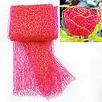 Sansi Specially dyed nylon, Nylon, Pinkish red, Gold colour, 75cm x 80cm, 1 piece
