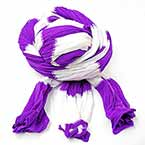 Segmental dyed nylon, Nylon, Dark purple, white, Stretched Size 2.5m x 20cm, 1 piece
