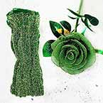 Shimmering Nylon, Dark green, Gold colour, Stretched Size 90cm x 25cm, 1 piece
