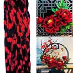 Rainbow Colour Specially dyed nylon, Burgandy, black, Stretched Size 2.5m x 25cm, 1 piece