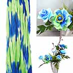 Rainbow Colour Specially dyed nylon, Olive, Royal blue, Stretched Size 2.5m x 25cm, 1 piece