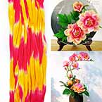Rainbow Colour Specially dyed nylon, Magenta, Yellow, Stretched Size 2.5m x 25cm, 1 piece