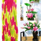Rainbow Colour Specially dyed nylon, Magenta, pink, Stretched Size 2.5m x 25cm, 1 piece