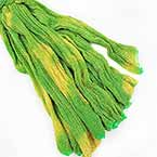 Shimmering Nylon, Lime green, Yellow, Stretched Size 100cm x 25cm, 1 piece