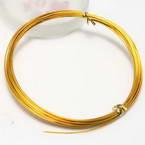 Aluminium wire, Aluminium, Gold colour, 5m, 0.1cm