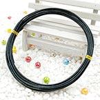 Aluminium wires, Aluminium, black, 5m x 1.5mm (approximate), 1.5mm