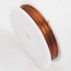 Colour copper wires, Copper, brown, 10m, 0.5mm