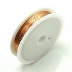 Colour copper wires, Copper, Light brown, 40m, 0.25mm