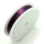 Colour copper wires, Copper, Dark purple, 15m, 0.4mm
