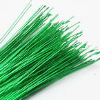 Florist wires, green, 20 pieces, Length 80cm, Diameter 0.8mm (approximate), Gauge 20