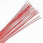 Florist wires, red, 20 pieces, Length 80cm, Diameter 0.8mm (approximate), Gauge 20