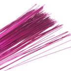 Florist wires, Magenta, 20 pieces, Length 80cm, Diameter 0.6mm (approximate), Gauge 22