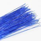 Florist wires, blue, 20 pieces, Length 80cm, Diameter 0.6mm (approximate), Gauge 22