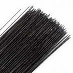 Florist wires, black, 20 pieces, Length 80cm, Diameter 0.6mm (approximate), Gauge 22