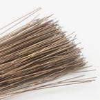 Florist wires, brown, 20 pieces, Length 80cm, Diameter 0.6mm (approximate), Gauge 22