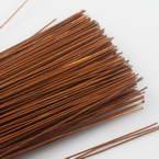 Florist wires, brown, 20 pieces, Length 80cm, Diameter 0.8mm (approximate), Gauge 20