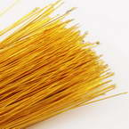 Florist wires, Gold colour, 50 pieces, Length 80cm, Diameter 0.8mm (approximate), Gauge 20