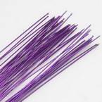 Florist wires, purple, 50 pieces, Length 80cm, Diameter 0.8mm (approximate), Gauge 20