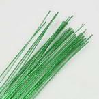 Florist wires, green, 50 pieces, Length 80cm, Diameter 0.6mm (approximate), Gauge 22