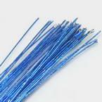 Florist wires, blue, 50 pieces, Length 80cm, Diameter 0.6mm (approximate), Gauge 22