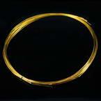 Florist wires, Gold colour, 5 pieces, Length 2m, Diameter 0.8mm (approximate), Gauge 20