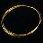 Florist wires, Gold colour, 5 pieces, Length 2m, Diameter 0.6mm (approximate), Gauge 22