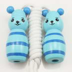 Skipping rope, Wood, Turquoise colour, 1.88m, 1  piece
