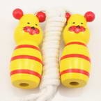 Skipping rope, Wood, Yellow, 1.88m, 1  piece