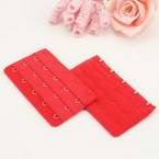 Bra back extender, Thick nylon and High quality metal alloy, red, 9.5cm x 5cm, 1 pieces