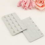 Bra back extender, Thick nylon and High quality metal alloy, grey, 9.5cm x 5cm, 1 pieces