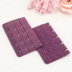 Bra back extender, Thick nylon and High quality metal alloy, Violet, 9.5cm x 5cm, 1 pieces