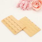 Bra back extender, Thick nylon and High quality metal alloy, Light brown, 9.5cm x 5cm, 1 pieces