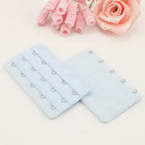 Bra back extender, Thick nylon and High quality metal alloy, Light blue, 9.5cm x 5cm, 1 pieces