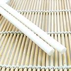 Hot Melt Glue Sticks, Plastic, white, 25cm x 7mm, 2 pieces