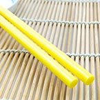 Hot Melt Glue Sticks, Plastic, Yellow, 25cm x 7mm, 2 pieces