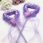Decor stick, foam and Satin, purple, 34cm x 8cm x 2cm, 1 Decor stick