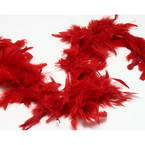 Feathers, Turkey feathers, red, 1.9m x 8.5cm