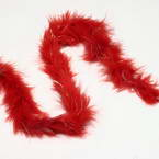 Feathers, Chicken Feathers, red, 2m x 3.5cm