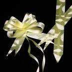 Automatic Ribbon bow, Yellow, white, 10 Flower bows, 10cm x 8cm x 4cm