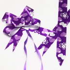 Automatic Ribbon bow, Royal purple, white, 10 Flower bows, 10cm x 8cm x 4cm