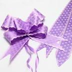 Automatic Ribbon bow, Light purple, white, 3 Flower bows, 20cm x 15cm x 7cm