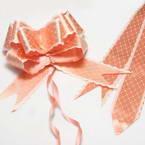 Automatic Ribbon bow, orange, Yellow, 3 Flower bows, 20cm x 15cm x 7cm
