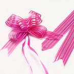 Automatic Ribbon bow, Magenta, 2 Flower bows, 13cm x 10cm x 4cm