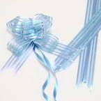 Automatic Ribbon bow, blue, 2 Flower bows, 13cm x 10cm x 4cm
