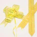 Automatic Ribbon bow, Yellow, 2 Flower bows, 13cm x 10cm x 4cm