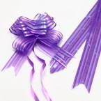 Automatic Ribbon bow, Dark purple, 2 Flower bows, 13cm x 10cm x 4cm